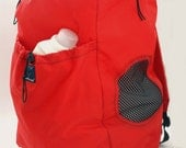 3-Load LAUNDRY BACKPACK Red/ black mesh