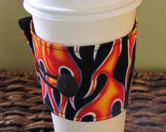 Flames  Sleeve Cup Cozy