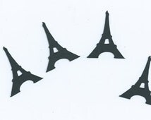 Eiffel tower cupcake toppers set of twenty four