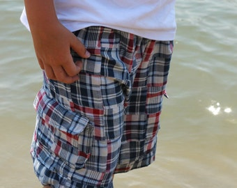 Lakeside Cargo Shorts PDF pattern - Ellie Inspired - sizes 2-12
