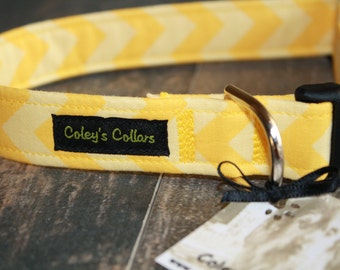 "Dog Collar ""The Chevron in Yellow"""