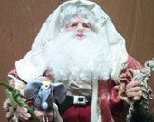 Santa and the Antique Toys (Reserved for Johanna...DO not buy if not her)