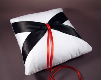 Double Sash Wedding Ring Bearer Pillow - Choose Your Own Colors
