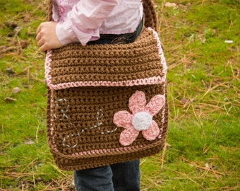 Crochet Pattern, Messenger Bag, Kiwi Tote  - Instant Download