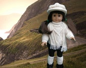IRISH SWEATER OUTFIT Dolls Knitting pattern