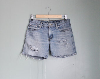10 Dollar Sale Vintage 90s Ralph Lauren Destroyed Cut Off Denim Shorts Women S