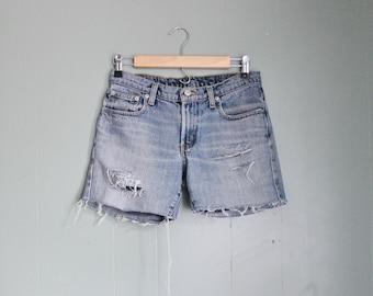 10 Dollar Sale Vintage 90s Ralph Lauren Destroyed Cut Off Denim Shorts Women S