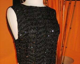 Quintessential 50s original Black Beaded Blouse