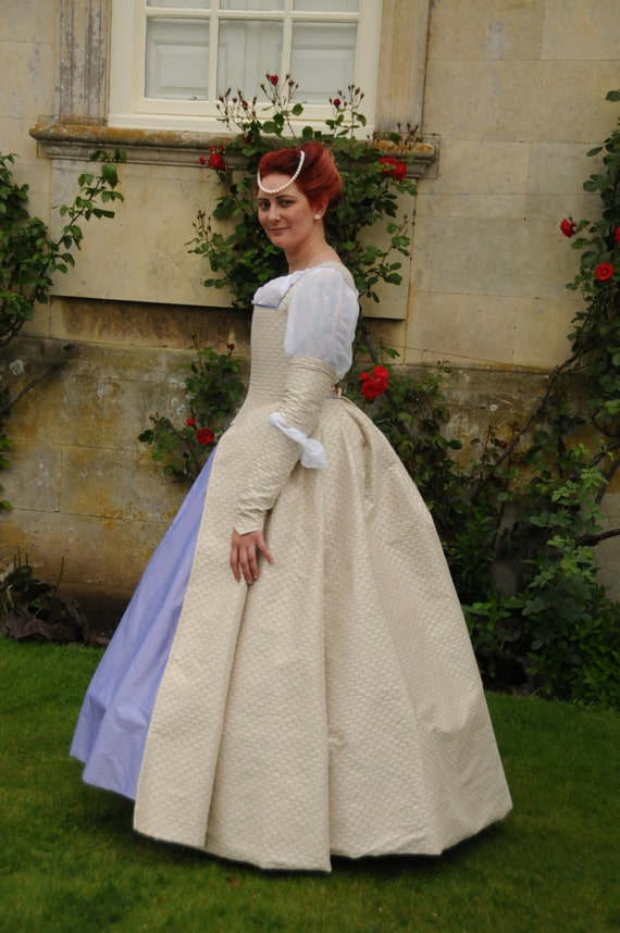 Items similar to elizabethan silk wedding dress ball gown for Tudor style wedding dress