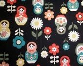 Russian Matryoshka Doll print Japanese fabric by Kokka quilting sewing crafts from MyGypsyCottage on Etsy