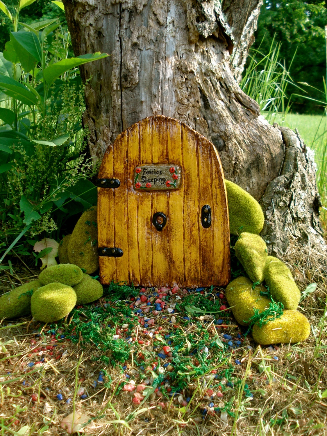 Large fairy door fairy door kit fairy doors and windows for Outdoor fairy door