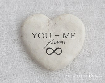 Infinity Sign Print, Unique Anniversary Present, Keepsake Wedding Gift, Love Print, Heart Stone Print, You and Me Forever Print, Wall Art