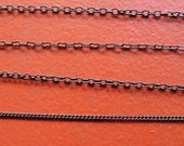 Gunmetal Chain for Customized Necklace, Choker, Bracelet, Anklet Jewelry