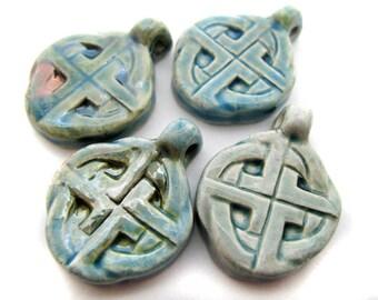 10 Raku Celtic Cross Pendant - RAK178