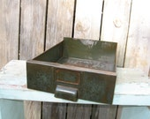 Industrial  Metal File Drawers Green color