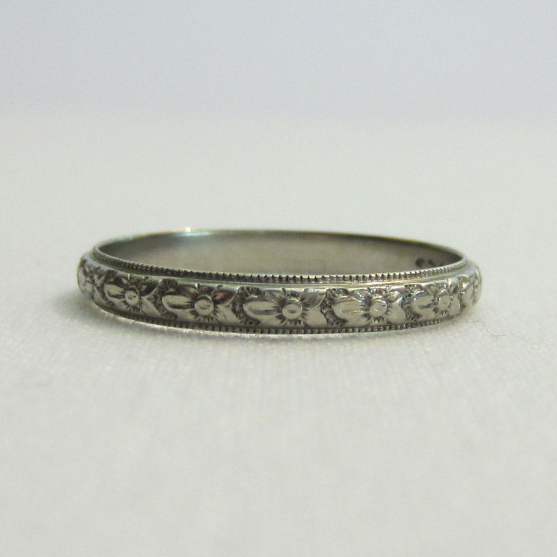 reserved vintage wedding ring orange blossom pattern rare With rare wedding rings
