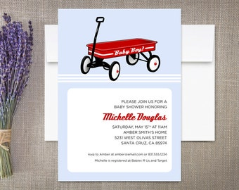 Baby Shower Invitations, Radio Flyer