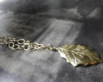 Mother's Day Gift, Jewelry, Necklace, Statement Necklace, 22k Gold Plated Leaf Necklace, Accessories, Gift for Her