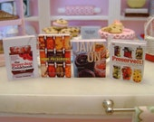CANNING PRESERVING Jams Jellies Baking COOKBOOKS - Dollhouse Miniature 1/12 Scale