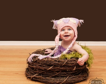 TWIN SET Olive Faux Fur, Wood Branch Nest, Owl Nest, Bird Nest, Newborn Nest, Newborn Photography, Photo Prop