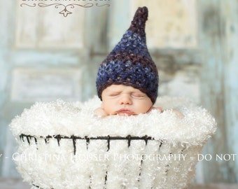 Blue Jean Baby Newborn Gnome Hat