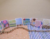 MINI NOTES - 2x2 Variety Pack of 50 Retro Mini Notecards, Gift Tags, Thank You, Thanks for Your Order