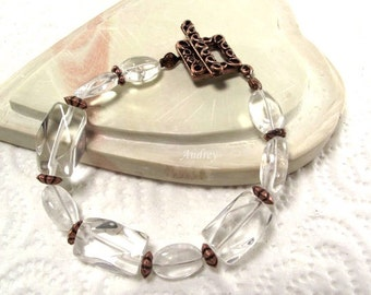 Quartz Bracelet - So Clearly Crystal and Copper Bracelet