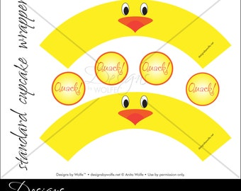 """Printable """"Lil' Chick"""" Designer Cupcake Wrappers"""