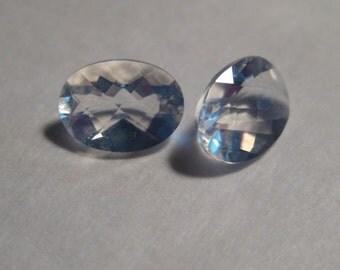 Faceted Oregon Opal .......... pair ..........   7 x 5 x 3 mm ............                                    a851