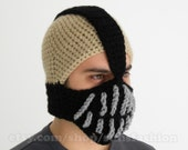 Bane Mask Batman Crochet Beanie Hat Slouch Mens Handmade Winter Men Snowboard Ski boyfriend gift