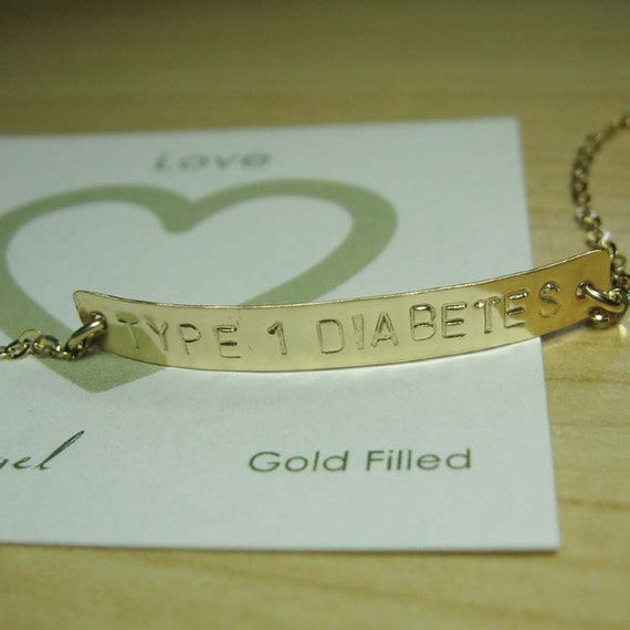 items similar to medical bracelet type 1 diabetes long. Black Bedroom Furniture Sets. Home Design Ideas