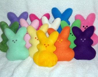 Handmade Stuffed Tie Dye Green Bunny Rabbit - Fleece, Child Friendly - Easter bunny