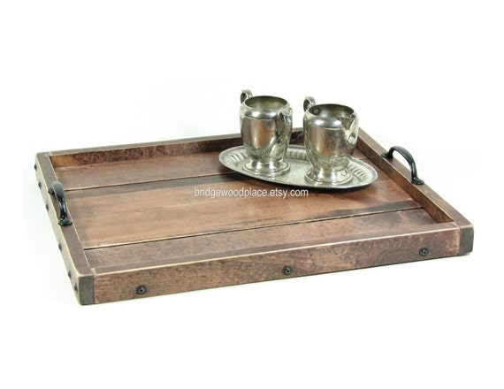 Ottoman Tray Wooden Coffee Table Tray Serving By