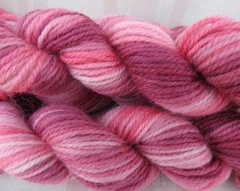 Wild Roses Hand Dyed Merino Yarn Dk weight 120 yards