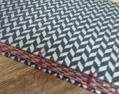 SAMPLE SALE - Coptic Stitch Bound Journal -- Black, Red