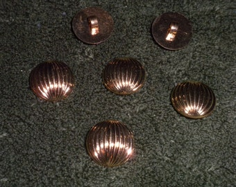 "Vintage Gold Lined Globe 3/4"" Shank Button -- 12 pcs   (B440)"
