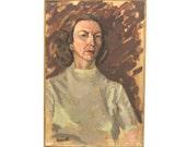 vintage mid-century oil portrait - no. 4