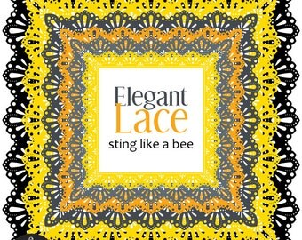 Square Frames - Elegant Lace - Sting Like A Bee