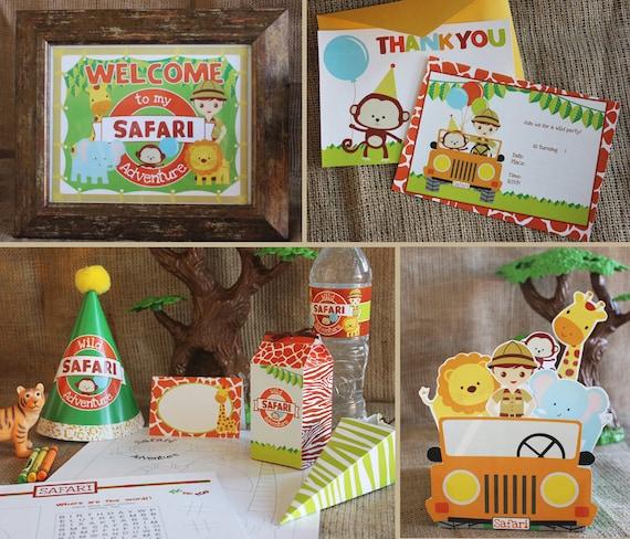 Safari cute printable party