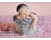 RESERVED Custom Order Gray Marblel Bubble Blanket  Mini Prop Blanket/Bucket Blankie  Newborn Photo Prop Ready To Ship