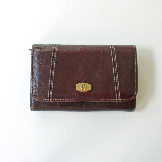 Vintage etienne aigner brown leather wallet by rattyandcatty