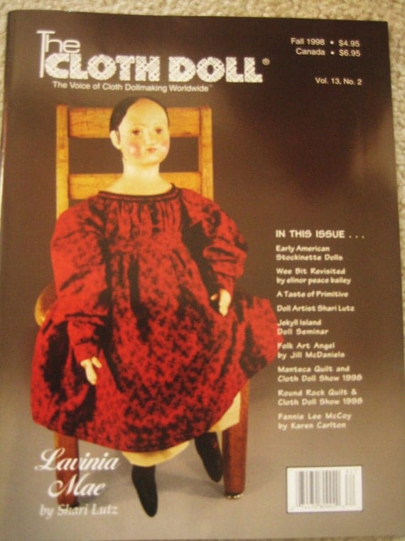 Cloth Doll Magazine Izannah Walker Stockinette Pattern