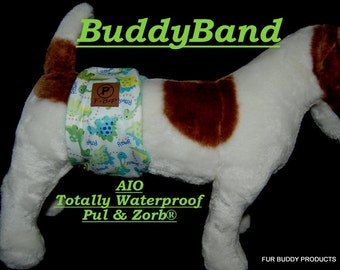 Waterproof Belly Band  Diaper for Dogs with Pul and Zorb...All Sizes