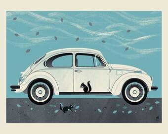 Winter Beetle art print