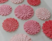 Pink Dahlia Stickers, Glitter  Martha Stewart DESTASH Scrapbooking Stickers