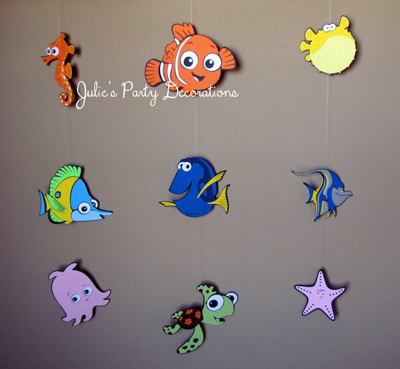 3 finding nemo hanging party decorations for zannia for Nemo decorations