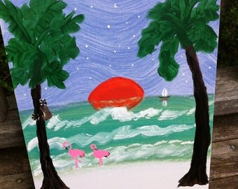 I'll paint YOUR pet on the Beach just for you