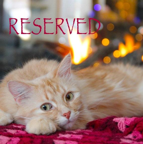 Reserved for Glenda