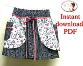 Instant download Sewing pattern skirt girls picture tutorial  pdf / Une Petite Parisienne /  sizes 9 Months to 6T