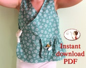 Kimono top. Baby sewing pattern. Girl sewing pattern. Sewing tutorial. Top
